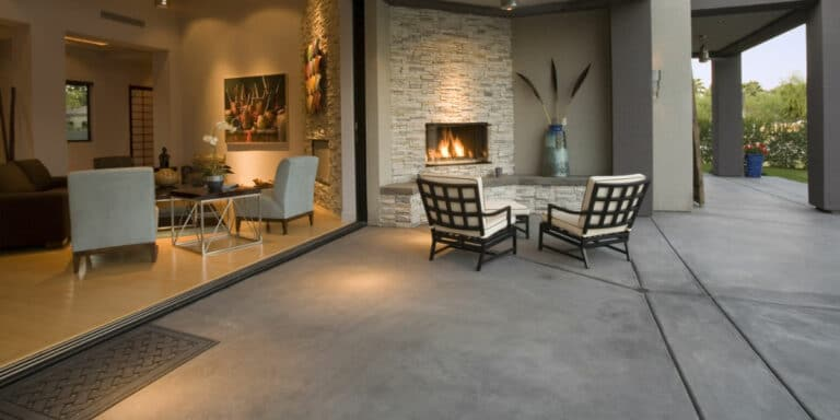 terrasse sol beton